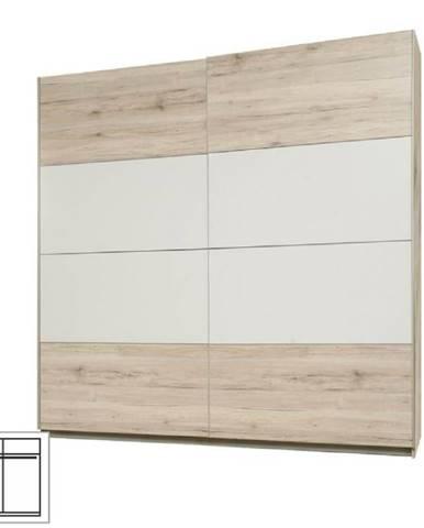 Vešiaková skriňa s posúvacími dverami dub pieskový/biela VALERIA