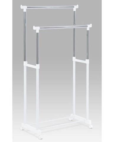 Stojan na šaty chróm / biela, 85 x 170 cm