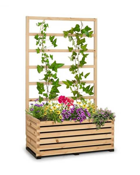 Blumfeldt Blumfeldt Modu Grow 100, súprava vyvýšeného záhona a mriežky, 100 x 151 x 45 cm, borovicové drevo, bublinková fólia