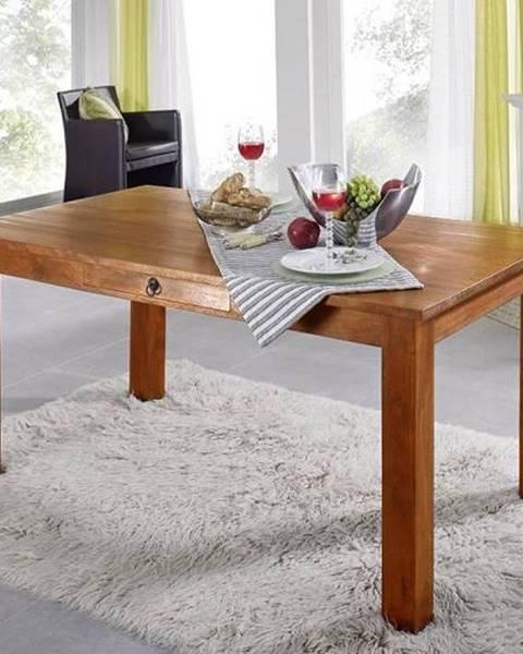 Bighome.sk CAMBRIDGE HONEY Jedálenský stôl so šuplíkom 180x90 cm, akácia