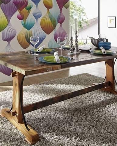 OLDTIME Jedálenský stôl 160x90 cm, staré drevo