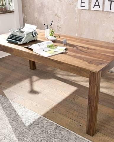 ROUND Jedálenský stôl Klasik 200x100 cm, hnedá, palisander