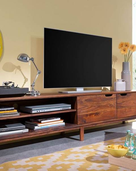 Bighome.sk SKANE TV stolík I. 220x48 cm, palisander, hnedá