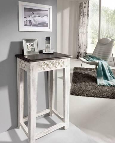 ANTIK Príručný stolík 40x30 cm, mango a akácia