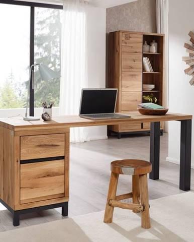 TIROL Písací stôl 180x55 cm, prírodná, dub