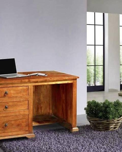 Bighome.sk CAMBRIDGE HONEY Písací stôl 130x80 cm, akácia