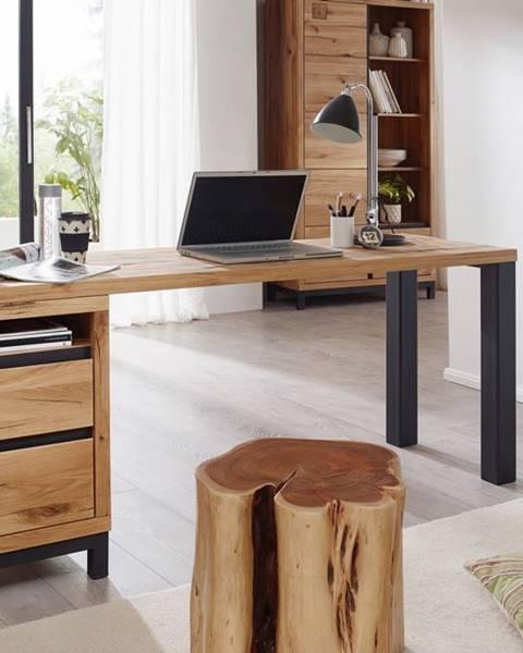 Bighome.sk TIROL Písací stôl s poličkou 150x55 cm, prírodná, dub