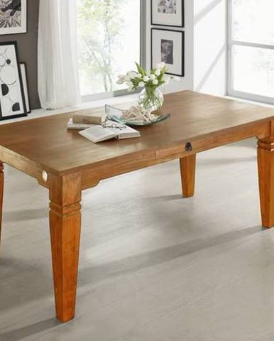 CAMBRIDGE HONEY Jedálenský stôl s jednou zásuvkou 200x100 cm, akácia