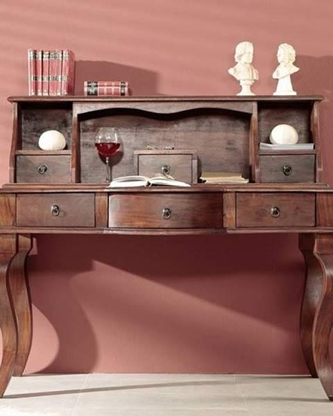 Bighome.sk CAMBRIDGE Písací stôl 112x130 cm, akácia