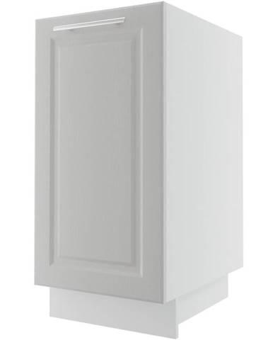 Kuchynská skrinka Emporium D1D/40 light grey stone/biela