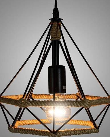 "Luster Piramida 8801/1 ""M"" čierna+lano LW1"
