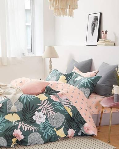Bavlnená saténová posteľná bielizeň ALBS-01188B/3 200x220