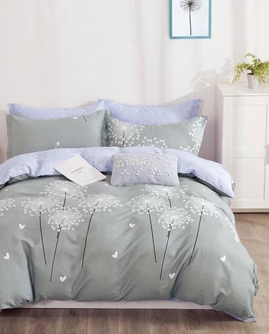 Bavlnená saténová posteľná bielizeň ALBS-01190B/2 140x200