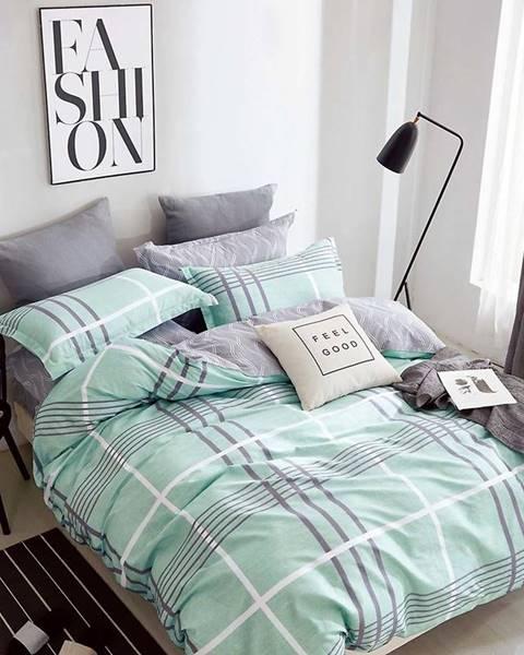 MERKURY MARKET Bavlnená sátenová posteľná bielizeň ALBS-0990B/2 140x200