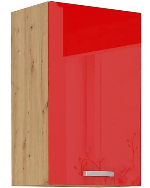MERKURY MARKET Skrinka do kuchyne Artisan červená lesk 45G-72 1F