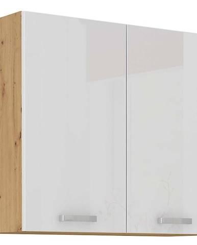 Skrinka do kuchyne ARTISAN biela lesklá 80G-72 2F