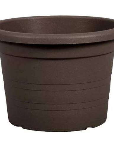 Kvetináč Cilindro plastový hnedý d30x21cm