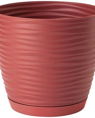 Sahara Petit okrúhly s podstavcom 27 cm červená