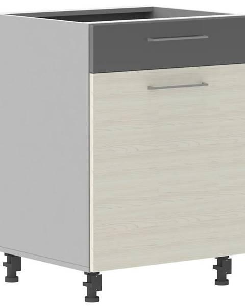 MERKURY MARKET Skrinka do kuchyne Next D60S/1 P bielená jedľa Douglas/antracit lesk