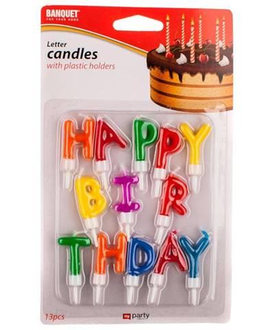 Sviečky happy birthday 13 ks