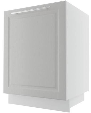 Kuchynská skrinka Emporium D1ZE/60 light grey stone/biela