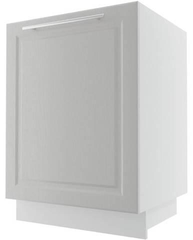 Kuchynská skrinka Emporium D1ZM/60 light grey stone/biela
