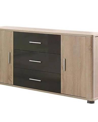 Systémový nábytok komoda Fill 4 2D3S Sonoma/Grafit