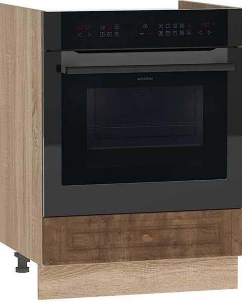 MERKURY MARKET Skrinka do kuchyne Dagna dub taiga tmavý/DS DK60