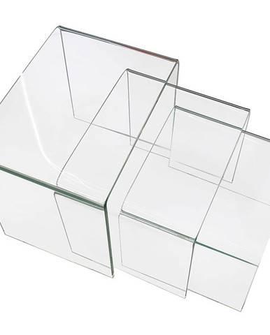 Konferenčný stolík Trio F-NT003 Clear 3X