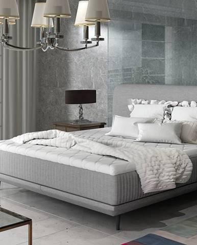 Ancona 160 čalúnená manželská posteľ svetlosivá (Cover 83)