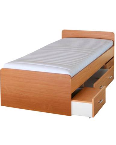Duet 80262 90 manželská posteľ s úložným priestorom buk