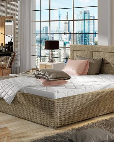 Rovigo 200 čalúnená manželská posteľ s roštom cappuccino