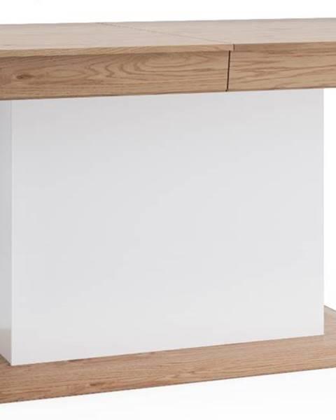 TARANKO Aspen AS-S1 rozkladací jedálenský stôl biely vysoký lesk