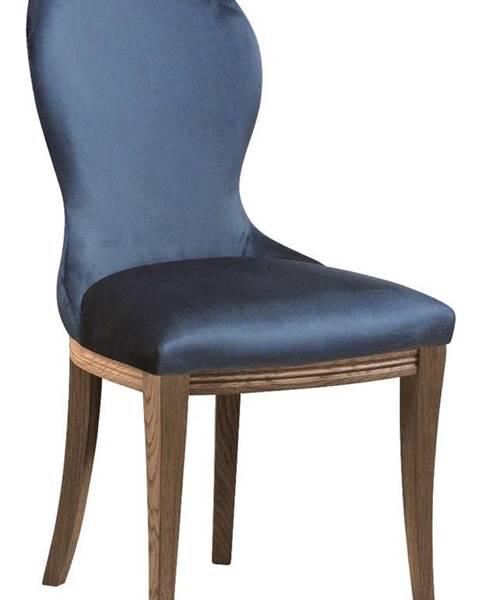TARANKO Krzeslo U3 jedálenská stolička tmavomodrá (Velvet-B1 261)