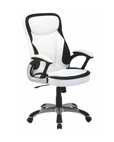 Afra kancelárske kreslo s podrúčkami biela