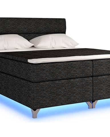 Avellino 160 čalúnená manželská posteľ s úložným priestorom čierna (Berlin 02)