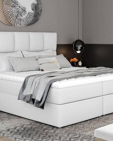 Grosio 145 čalúnená manželská posteľ s úložným priestorom biela