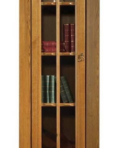 Kinga L rustikálna jednodverová vitrína drevo D3