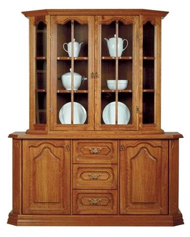 Kinga rustikálna vitrína s komodou drevo D3
