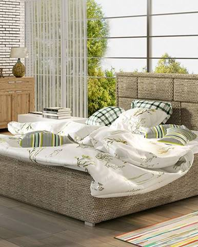 Liza UP 160 čalúnená manželská posteľ s roštom cappuccino