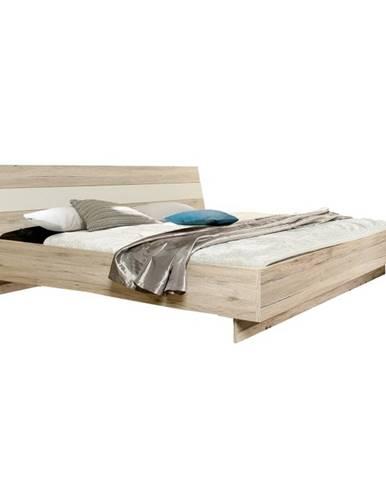 Valeria 180 manželská posteľ dub pieskový