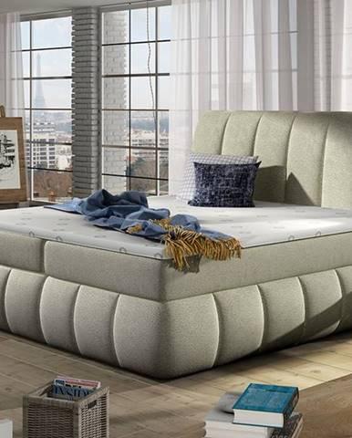 Vareso 180 čalúnená manželská posteľ s úložným priestorom béžová (Dora 21)
