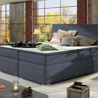 Diana 160 čalúnená manželská posteľ s úložným priestorom modrá