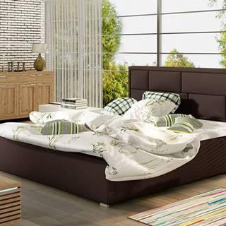 Liza 160 čalúnená manželská posteľ s roštom tmavohnedá (Soft 66)
