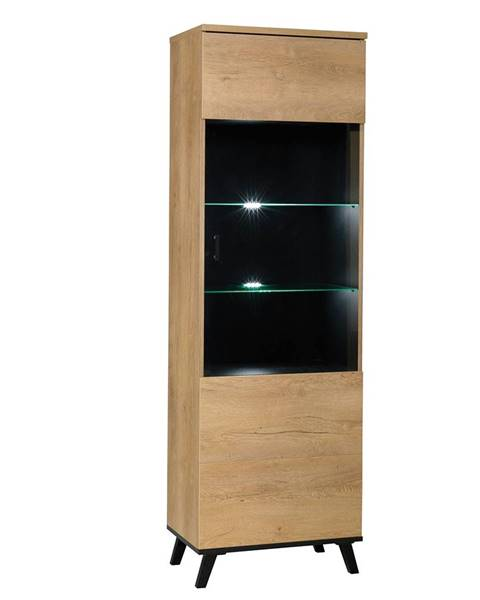 Kondela Siran Typ 2 jednodverová vitrína dub lefkas