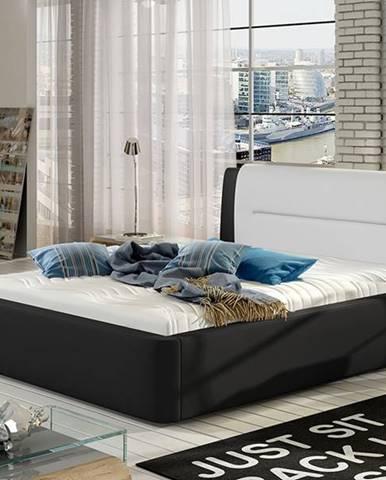 Portima 180 čalúnená manželská posteľ čierna
