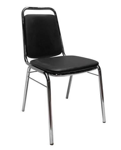 Zeki konferenčná stolička čierna