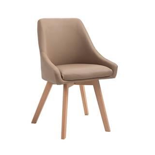 Teza jedálenská stolička béžová
