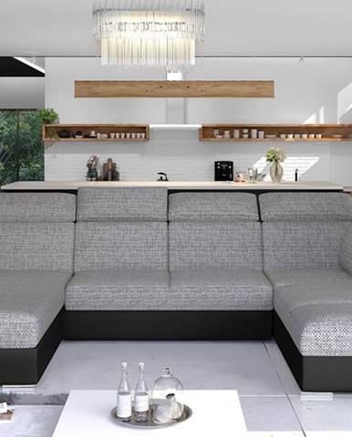 Ermo U P rohová sedačka u s rozkladom a úložným priestorom sivá