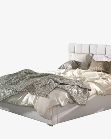 Galimo UP 180 čalúnená manželská posteľ s roštom biela